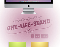 """One-Life-Stand"" Wallpaper Set"