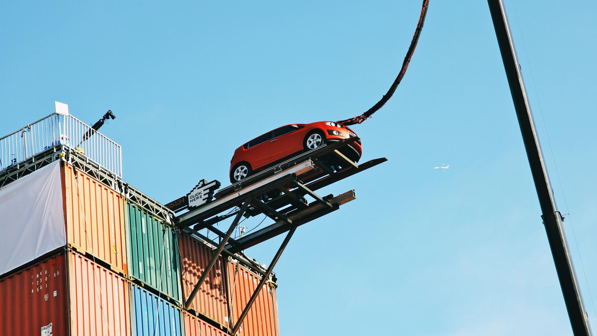 Chevy Sonic Launch - Bunjee Stunt.