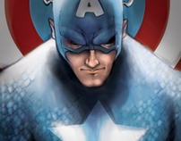 Digital Painting - Captain America