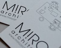 Stationery design for MIRO architetti