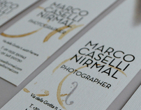 Stationery design for Marco Caselli Nirmal