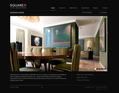 Square Foot Solutions Website