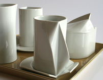 White coffee service set