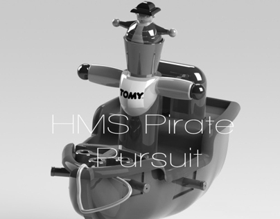 HMS Pirate Pursuit. Concept toy for TOMY bath range.