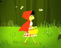 Little red ridding hood - illustration