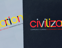 Civilization restaurant rebrand and menu redesign