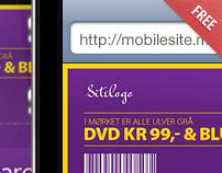 Mobile website (free PSD)