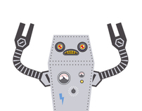 robo visitcard holder - papertoy