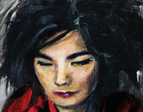 Bjork: Acrylics on Canvas