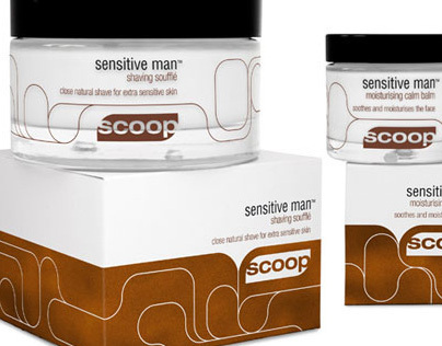 Scoop skincare branding + packaging