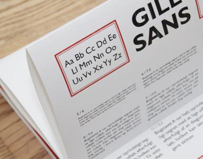 Gill Sans Type Specimen