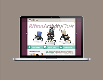 Rifton Activity Chair Product Launch Landing Page 2010