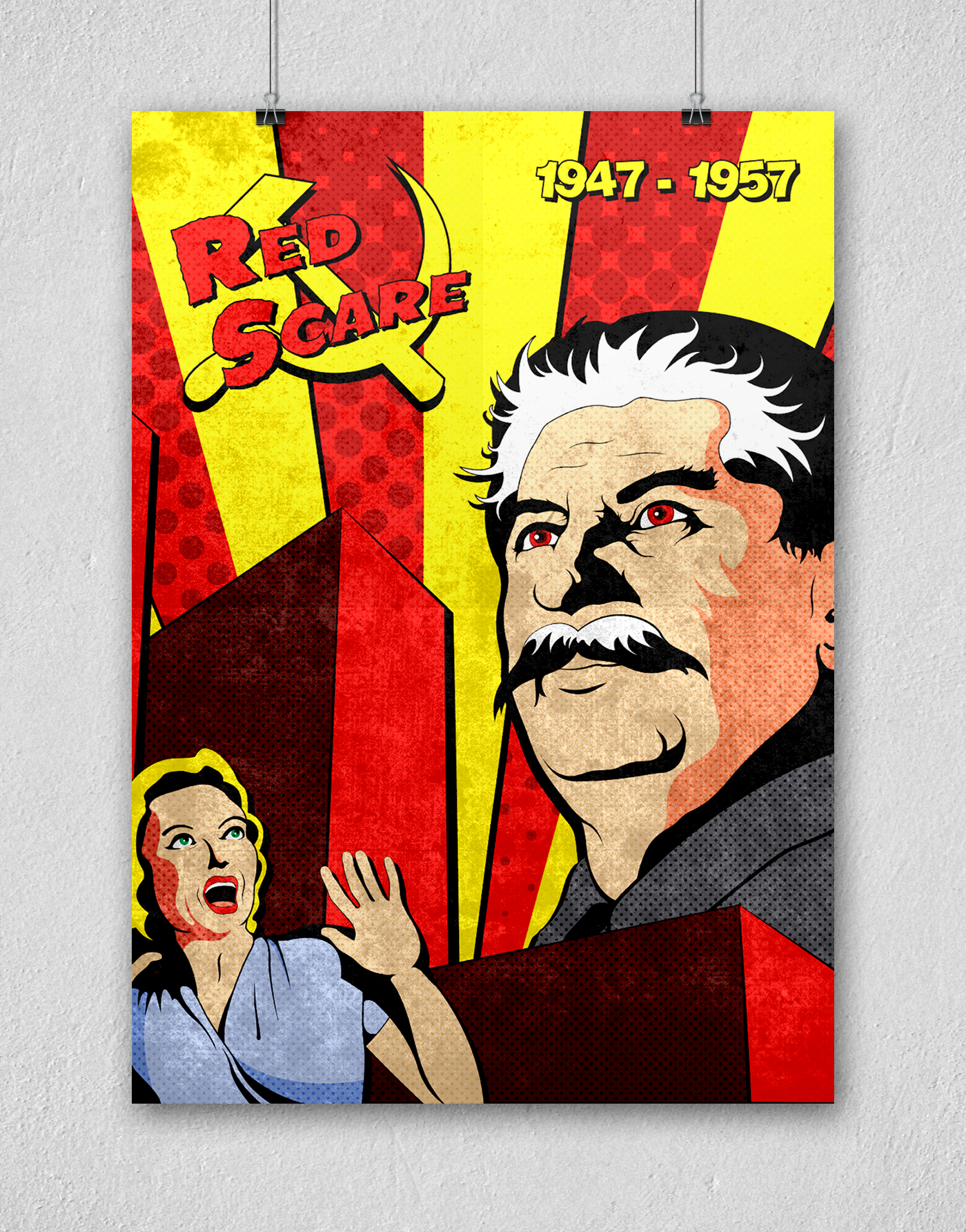 Historical Event Poster - The Red Scare