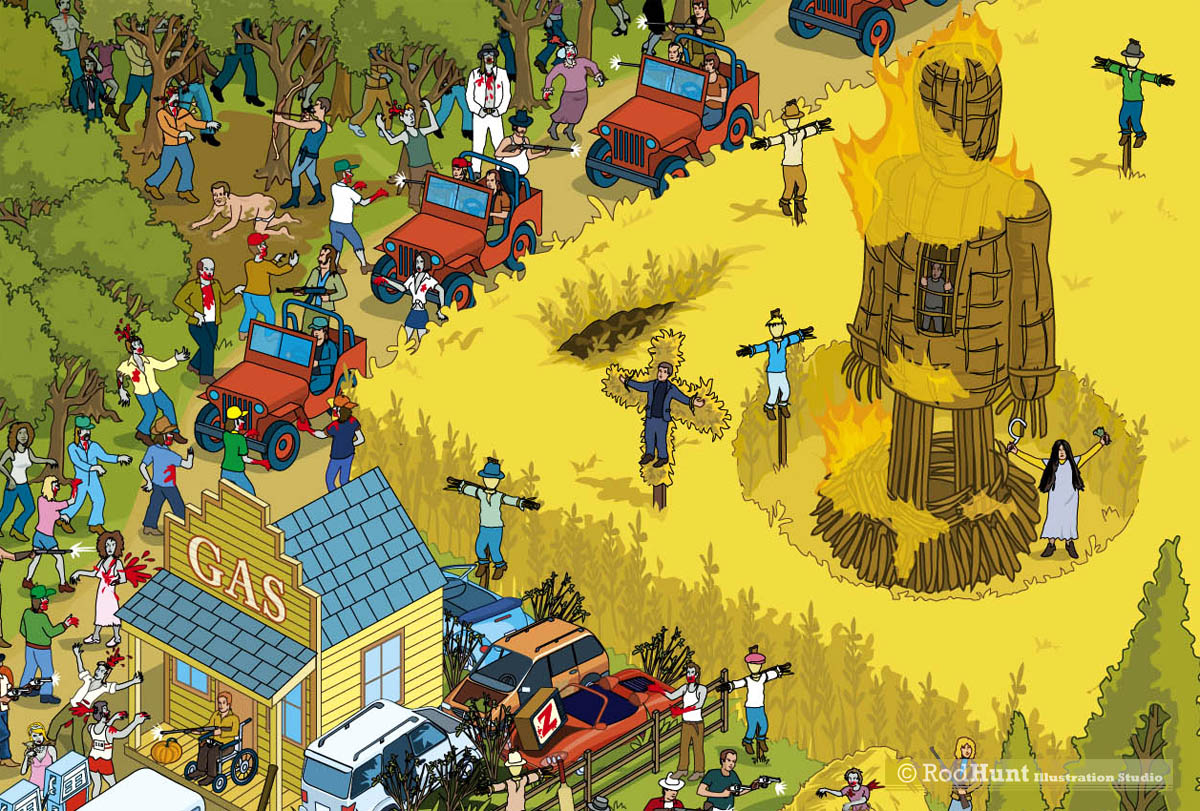 Zombie Apocalypse! Book Illustration
