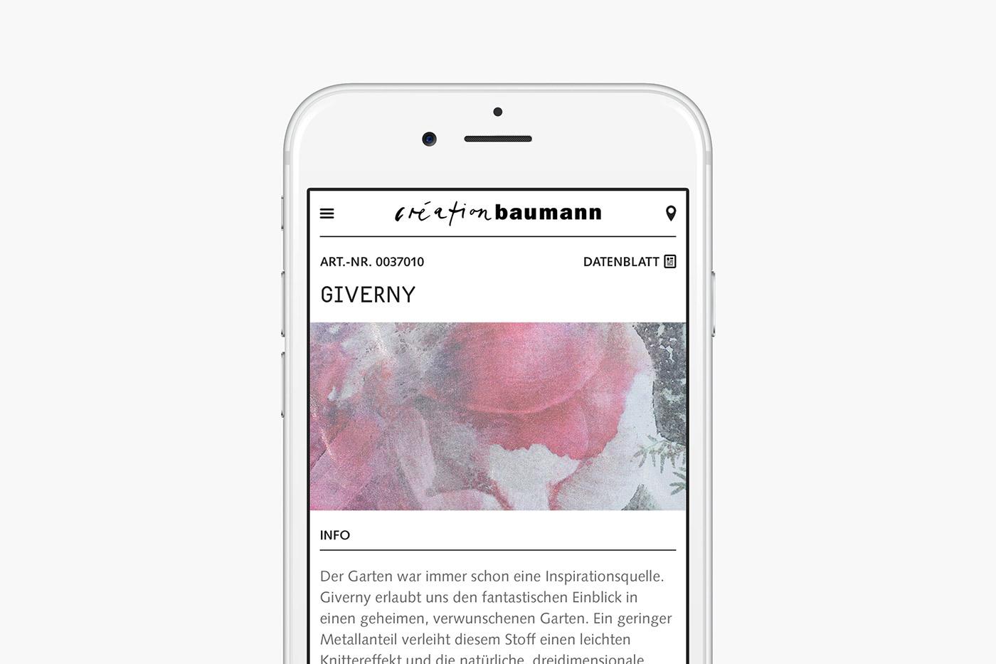 Creation Baumann Website / Mobile Responsive