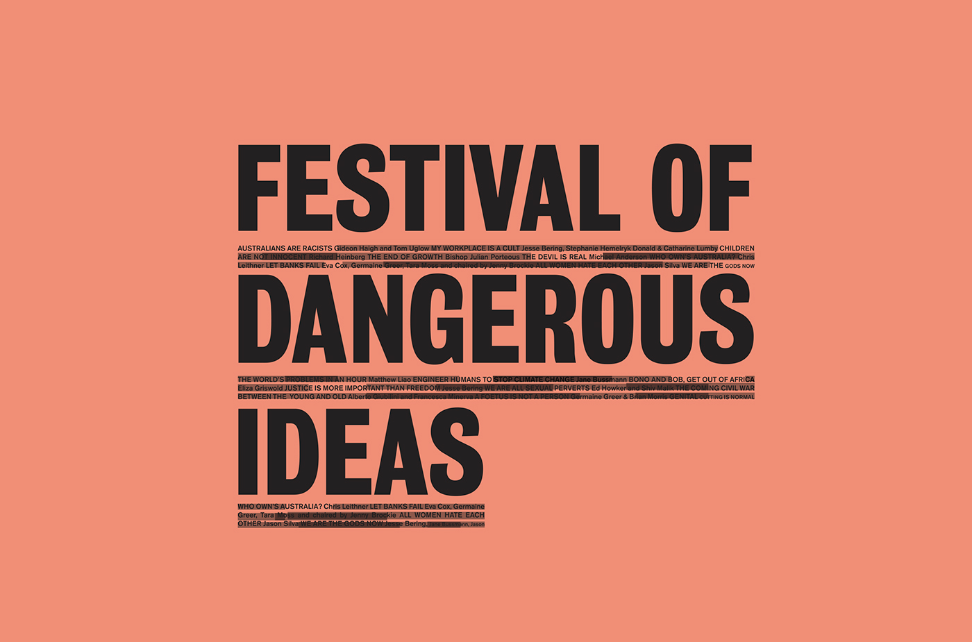 Festival of Dangerous Ideas 2011 & 2012