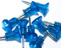 Blue Push Pin Screws