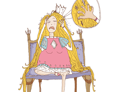 Rapunzel Got Lice ! - Failed Fairytales Illustration