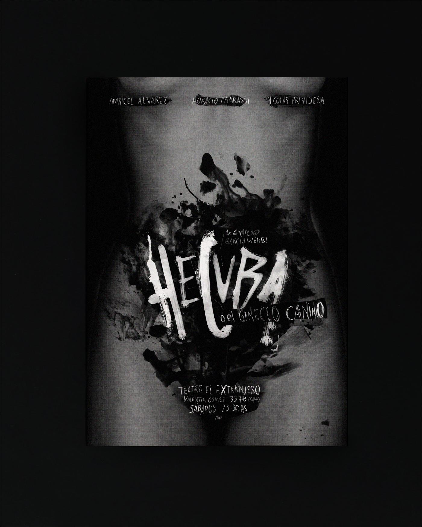 Hécuba - Afiche de teatro