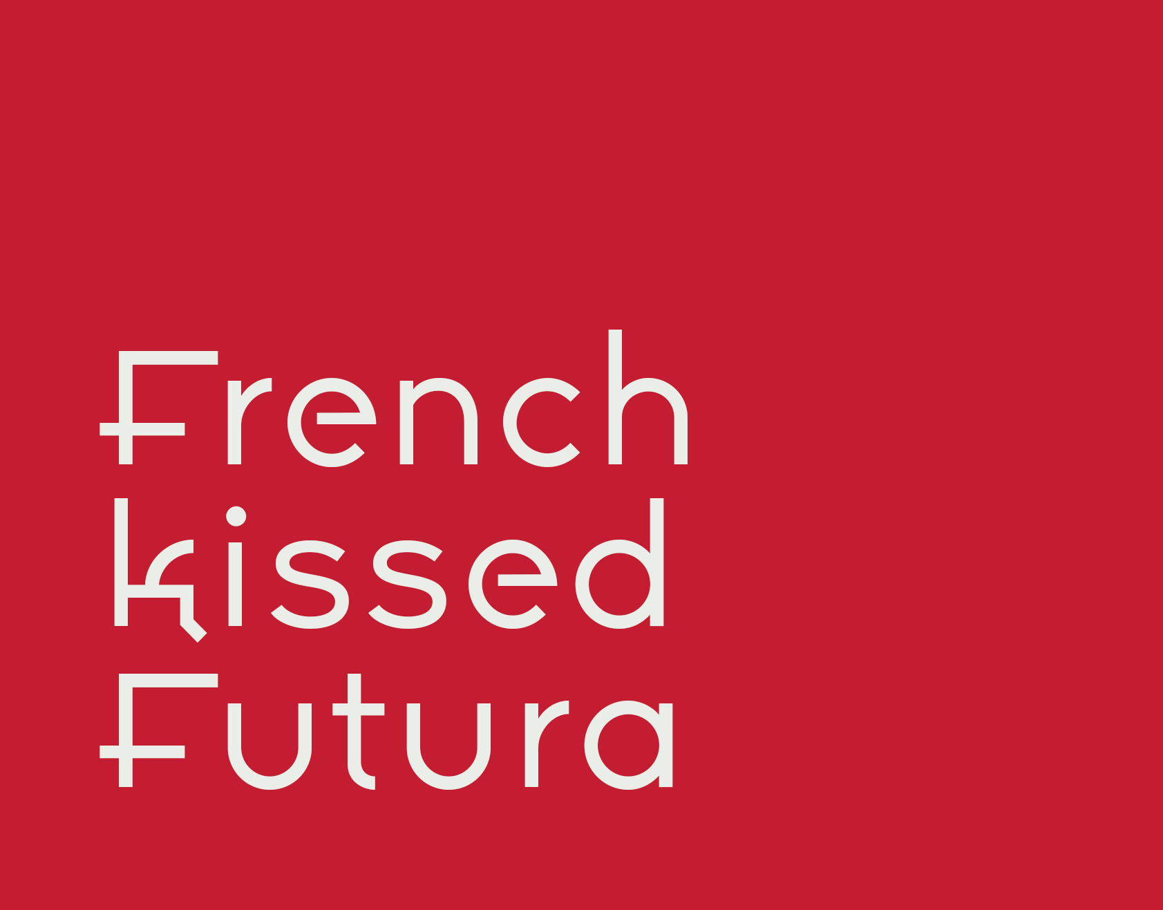 Aspasia, Futura à la French (Typefamily)