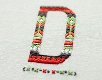 Esquire UK Magazine - Embroidered Typography