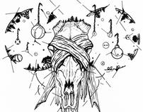 Blood Bone & Fire Sticker Series (self-promotion)