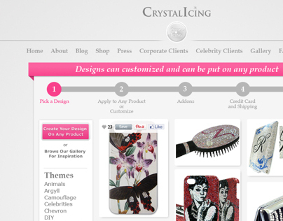 Crystal Icing Website