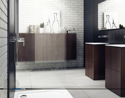 3d visualizations / interior design-bathroom