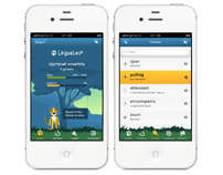 LinguaLeo iPhone application interface design