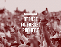 Refuse To Forget Project | Redesign Web