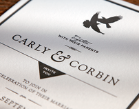 Carly & Corbins Wedding Invitations