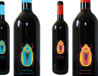 Jeweled Scarab Wine Bottles