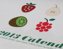 2013 Calendar- Seasonal Fruit
