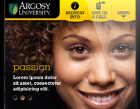 Argosy University - Mobile website