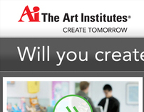 The Art Institutes - Mobile landing page design