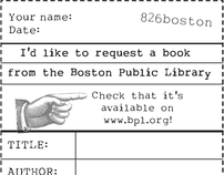 826 Boston book request form