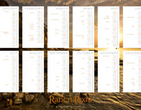 Ranch Road Design - Calendar