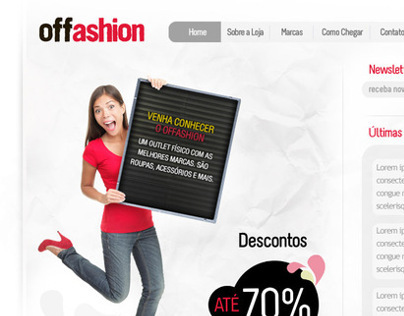 Offashion: Layout de site