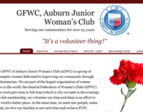 Aubrun Juniors Womans Club Website Design