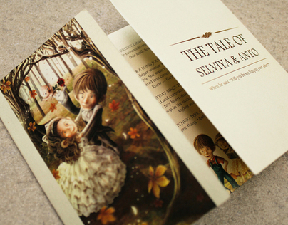 The Tale of Selviya & Anthony // wedding illustration