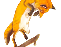 skateboard animals