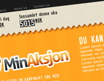 Min Aksjon - donation website