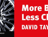 David Taylor Cadillac More/Less Outdoor Campaign