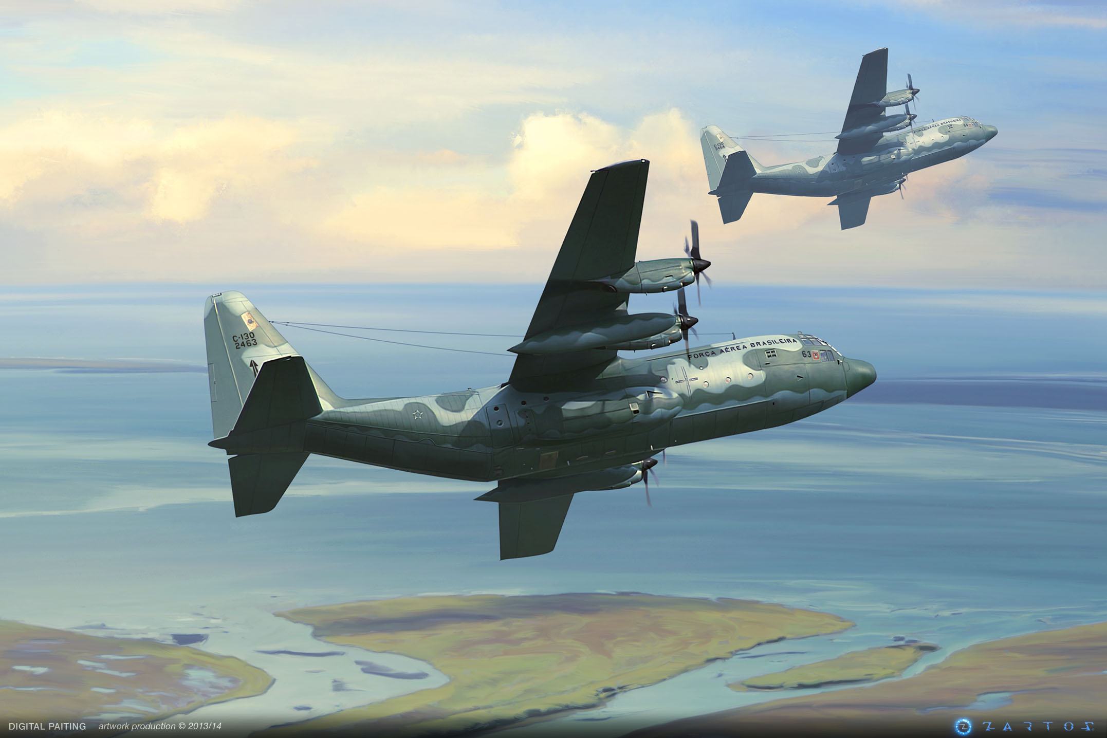 Digital paintings - FAB aircrafts