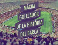 Messi - Màxim Golejador de la História del Barça