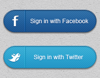 Social Media Sign in Buttons