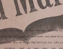 Typography: Singer/Songwriter Album Poster
