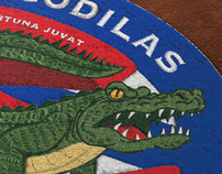 Logo for motorcycle club Crocodilas