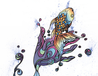 Technicolour Goldfish