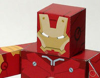 Iron Man movie papertoys